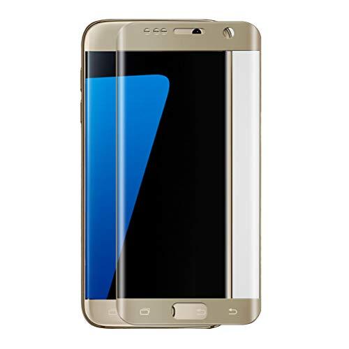 UKCOCO Protetor de tela de vidro temperado curvado 3D cobertura total para Samsung Galaxy S7 Edge (dourado)