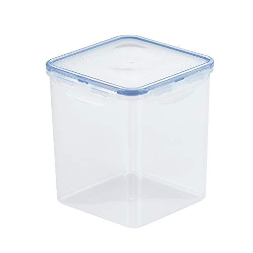 Lock and Lock, Contenitore Ermetico Impilabile Quadrato da 2,6 L, Trasparente  da Plastica, 1 Pezzo