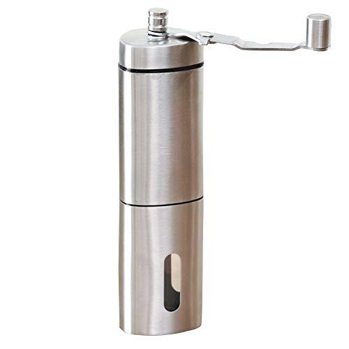カフスボタン カフス 小型家庭用ポータブルコーヒーグラインダーマニュアルコーヒーグラインダーパウダー厚さ調整可能 ウェディングビジネスクラシックカフリンクス (色 : Silver, Size : One size)