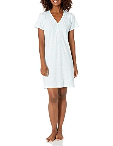 Karen Neuburger Women's Pajama Short Sleeve PJ Sleepdress, Blossom Paisley, Large