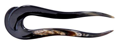 Marycrafts Haargabel Haarstab Haarschmuck aus Büffelhorn, 1er Pack(14x4 Cm)