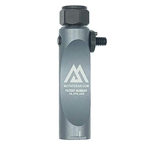 Mutnt Binocular Tripod Adapter 1/4-20 Quick Detachable Mount (Grey)
