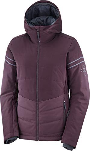 Salomon Damen Ski-Jacke, EDGE JACKET W, Polyester/Elasthan/Polyamid, Maroon (Winetasting), Größe: S, LC1383900