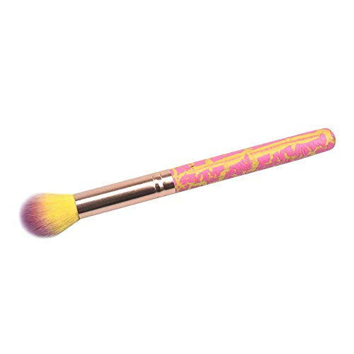 probeninmappx Cepillo Resaltador Pinceles De Maquillaje Abanico Mezcla Sombra De Ojos Contouring Blush Brush Pelo De Cabra Herramienta Cosmética