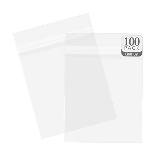 Price comparison product image Golden State Art,  Acid-Free Transparent Sleeves Storage Bags for Photo Framing Mats Mattes (8 3 / 8 x 10 1 / 8 Inches for 8x10 Mats,  Set of 100)