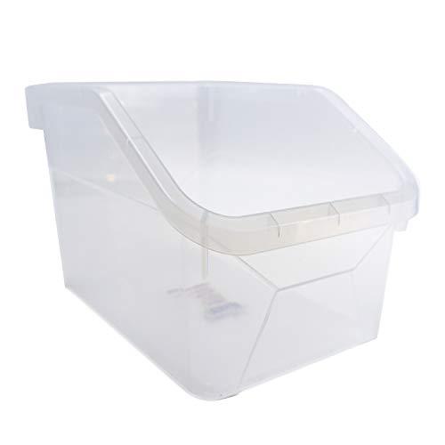 Carrotez Storage Bins, Pantry Organization and Storage, Plastic Refrigerator and Freezer Storage Organizer Bin Water Bottle and Drink Holder for Kitchen, Basement, Garage Fridge, BPA-Free, Clear