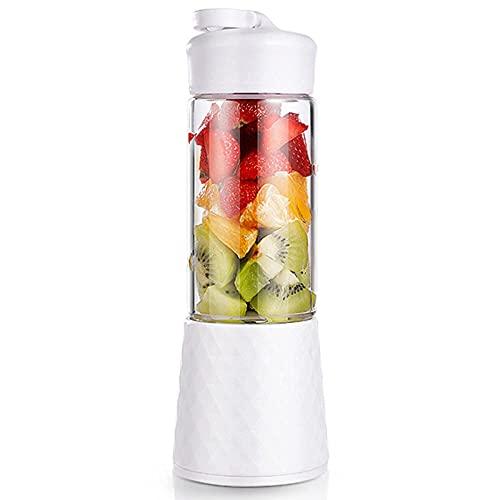 spining Portátil Blender Personal, Exprimidor de Hogares de 400 ml, Taza del Mezclador de Frutas, USB Recargable con Seis Cuchillas, Ideal para Hielo triturado, Batidos, Batidos, c