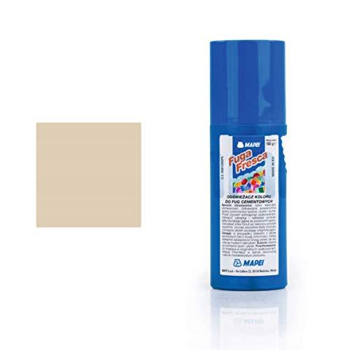Fuga fresca Mapei flacone da 160g colore 132 beige 2000 Vernice polimerica per rinnovare il colore delle fughe cementizie di pavimenti e rivestimenti