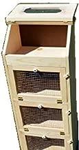 Amish Handcrafted Solid Pine Bread Box and 3 Door Vegetable Bin. Measures 16.5
