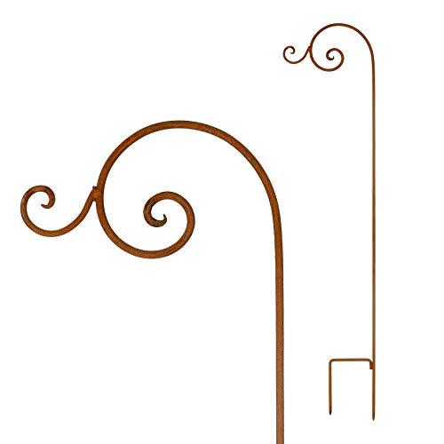 Laternenstab Stab Rankhilfe Rankstab Rost Deko Ampelhalter Halter Laterne Garten Gartendeko Stab Edelrost Beetstecker