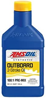 Amsoil Full Synthetic Outboard 100:1 2-Cycle Oil 1 Quart