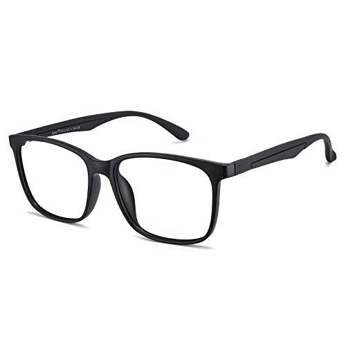 Cyxus Gafas con Filtro de luz Azul bloqueo de luz azul, Gafas con Filtro - Anti Luz Azul para Ordenador, Anti-reflejantes para Hombre y Mujer (Negro Mate-TR90)