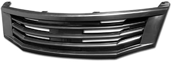 HS Power Front Grill Compatible with Honda Accord 4DR 08-10 | Black MU Style Badgeless Hood Bumper Grille