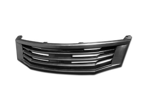 Brightt (I3-HVU-XQF) Compatible with 08-10 Accord 4 Door Mugen Style Abs Front Grill (Black)