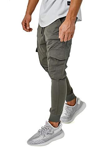 Herren Jogginghose Cargo Pants Jogger Schwarz Khaki Grau BR305, Größe:M, Farbe:Cargo Khaki