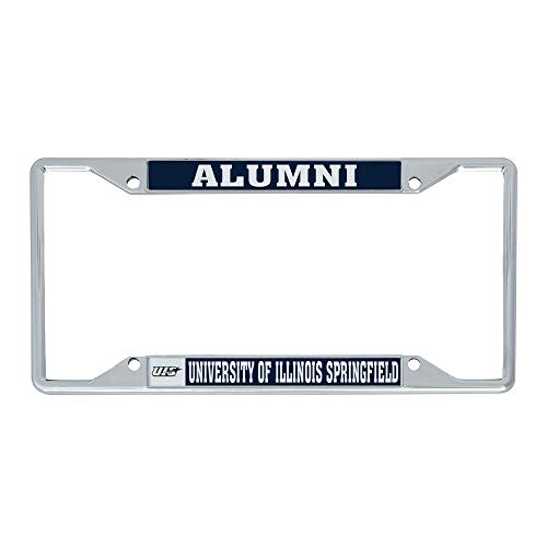 University of Illinois Springfield UIS Prairie Stars Metal License Plate Frame for Front or Back of Car Officially Licensed (Alumni)