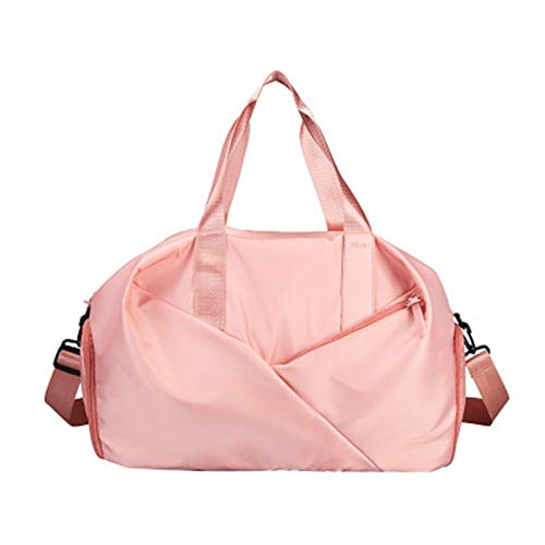 Y-hm fashion design Sport Gym Bag Fitness Dry And Wet Separation Yoga Bag Raincoat Travel Shoes Handbag Women's Shoes Shoulder Bag Sports Suitcase Lightweight and durable (Color : Pink, Size : A)