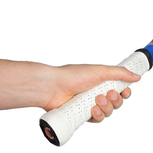 GAME.SET.WIN. Performance Grips (3er-Pack) in Weiß – Optimierte Griffbänder für Tennis, Squash, Badminton | mehr Grip | längere Haltbarkeit | Overgrips mit Perforation (Löcher) (3 Stück, Weiß)