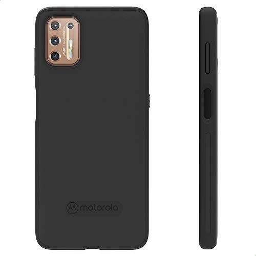 Motorola Moto G9 Plus Schutzhülle - Schwarz - stylische, stoßdämpfende Hüllen mit weicher Mikrostrick-Textur - alltäglicher Fallschutz, präzise Passform für Ihr Gerät.