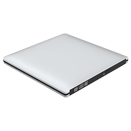 VersionTek USB3.0 ポータブルDVDドライブ CDドライブ PC外付けドライブ/DVDプレーヤー Windows/Linux/Mac OS三対応 スーパドライブ 超薄型(シルバー)  B0733128CR 1枚目