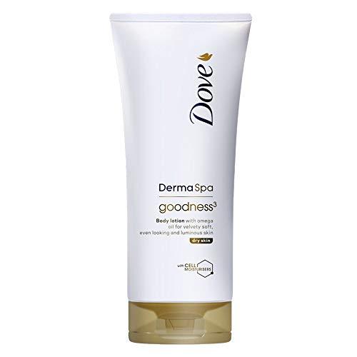 Dove Body Lotion Derma Spa Goodness 3 Feuchtigkeitsspendende Bodylotion für Damen und Herren, 200 ml