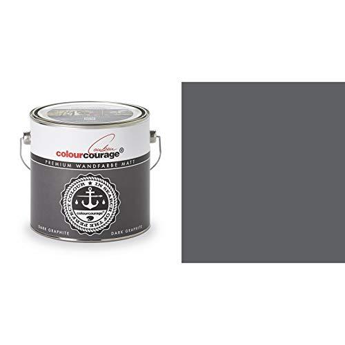 2,5 Liter Colourcourage Premium Wandfarbe Dark Graphite Grau | L709449575 | geruchslos | tropf- und spritzgehemmt