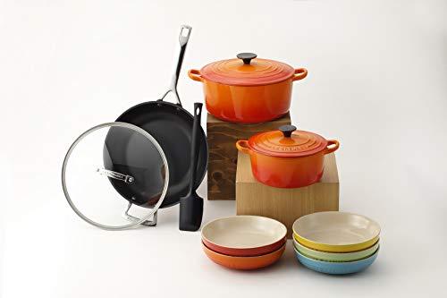 【Amazon.co.jp 限定】Le Creuset (ルクルーゼ) 鍋セット オレンジ 24cm ホーロー鍋、IH対応 3個入