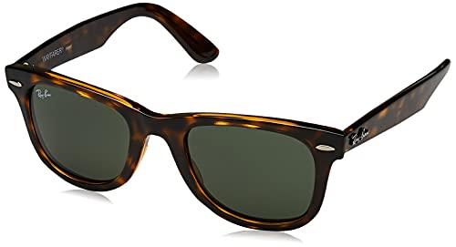 Ray-Ban WAYFARER EASE RB4340 - Gafas de Sol Unisex con lentes verdes, Color de montura Tortuga