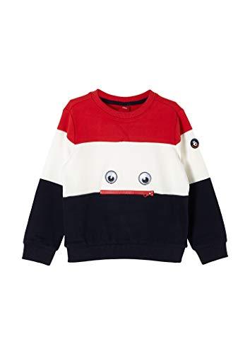 s.Oliver Junior Jungen 404.12.010.14.140.2056778 Sweatshirt, Red Blockstripes, 128/134/REG