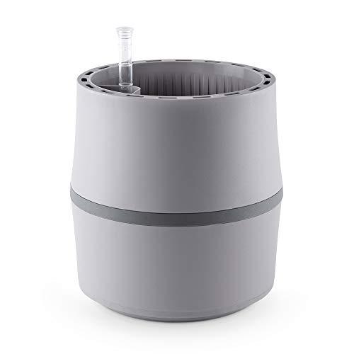 AIRY System S (Ø 22 cm) – Patentiertes System mit der Kraft der Pflanzen als natürlicher Luftreiniger und Luftbefeuchter für Innenräume (Light Grey/Stone Grey)