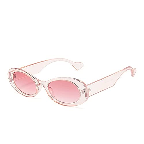 XWKKY Vintage Oval Sunglasse Mujeres Vintage Jelly Color Anteojos Hombres Sombras Gafas De Sol Gafas