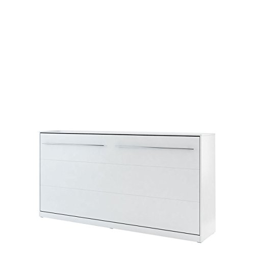 Mirjan24 Schrankbett Concept Pro II Horizontal, Wandklappbett inkl. Lattenrost, Bettschrank, Wandbett, Schrank mit integriertem Klappbett, Funktionsbett, Farbauswahl, (90x200 cm, Weiß)