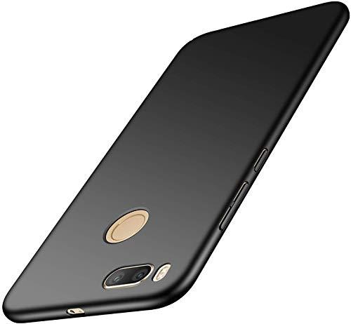 anccer Xiaomi Mi 5X Hülle, Xiaomi Mi A1 Hülle, [Serie Matte] Elastische Schockabsorption & Ultra Thin Design für Xiaomi Mi 5X / Mi A1 (Glattes-Schwarz)