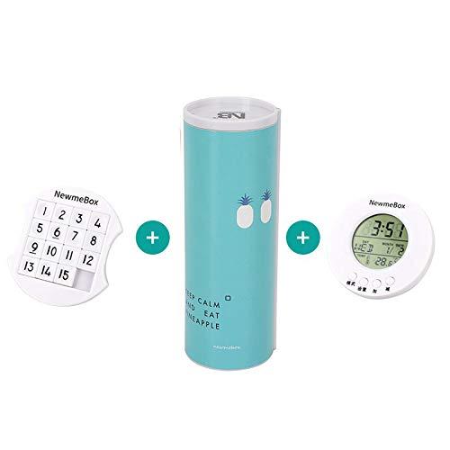 YGLONG Caja De PapeleríA De Arenas Movedizas Caja de lápiz Simple Azul Rosado Minimalismo Roll Minimalismo Codificado Cerradura de papelería Papelería de Regalo Estuche Escolar (Color : 3pcs of Set)
