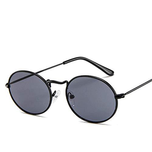 Gafas De Sol Polarizadas New Small Round Sunglasses Women Retro Metal Female Vinatge Oval Mens Sun Glasses Uv400 Eyeglasses Black