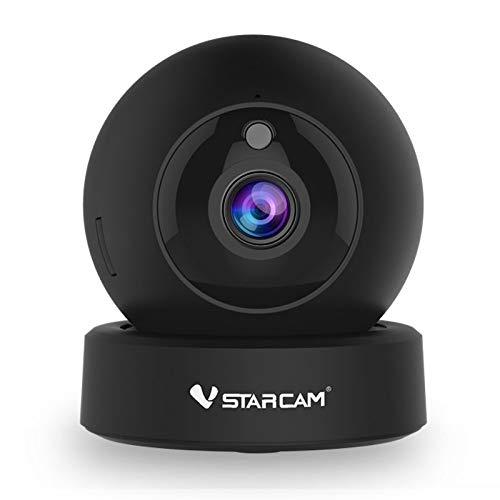 Vstarcam G43S 1080P FHD WiFi IP Kamera Fernbedienung Sicherheit Nachtsicht Baby Senioren Monitor Private Bodyguard Pan Tilt Zwei-Wege-Audio-Bewegungserkennung (UK-Stecker)
