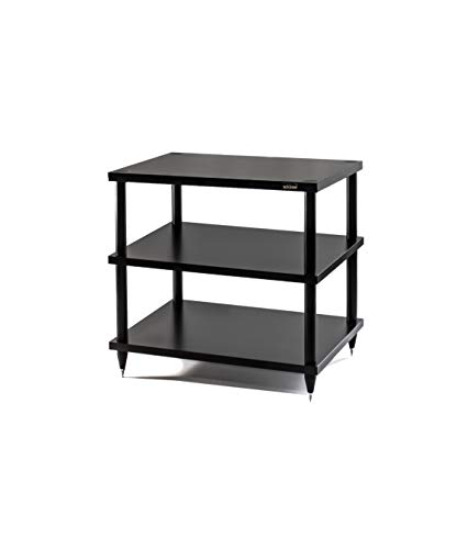 HiFi Rack Solidsteel S2-3 Möbel Schrank Schwarz Holz 3 Böden, HiFi Regal, HiFi Tisch