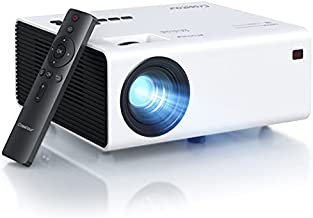 Projector, Native 1080P Full HD Video Projector, Mini Portable Projector for Outdoor Movies and Home Theater, 60000 Hrs LED Lamp Life, Compatible with Fire Stick TV Box Chromecast PS4 HDMI AV USB