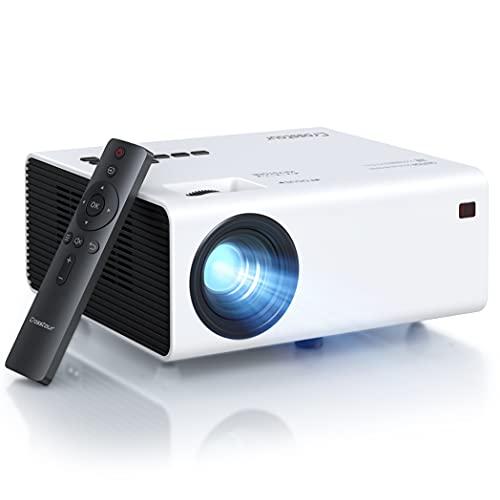 Crosstour Proiettore, Full HD Videoproiettore Nativa 1920x1080P LED Proiettore Supporto Firestick/PC/iPhone/Smart phone/PC/Speaker