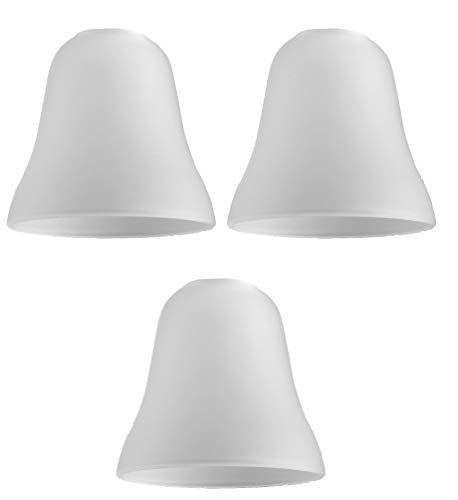 Set di 3 - Paralume stupendo e moderno di ricambio fatto di vetro satinato bianco a forma di cupola