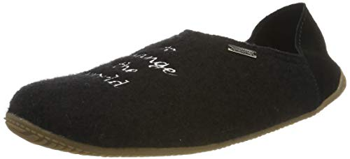 Living Kitzbühel Unisex-Erwachsene Pantoffel use Your Smile. Pantoffeln, Schwarz (schwarz 0900), 40 EU