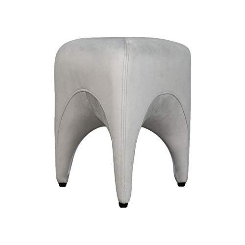 BUYYUB Cambio De Calzado De Terciopelo Material De Terciopelo, Sofá Taburete De Apósito para Sala De Estar Dormitorio 39.5 * 39.5 * 45 Cm (Color : Gray Velvet)