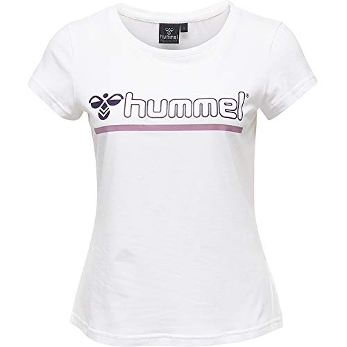 Hummel dam t-shirt Hmlperla t-shirt S/S vit X-L