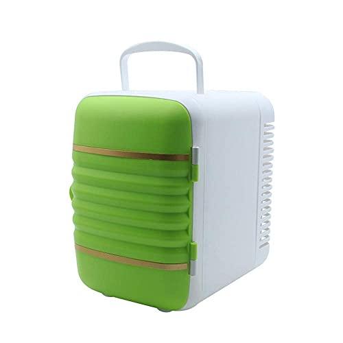 BD.Y Refrigerador portátil con congelador 4L Mini refrigerador y radiador eléctrico - Sistema termoeléctrico portátil de 12V CC (Color: Verde)