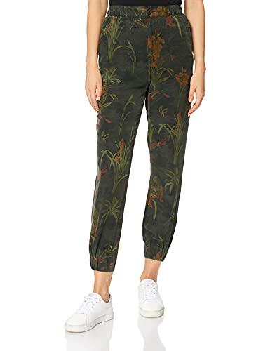 Desigual Pant_CAMOTIGER Pantalones Informales, Verde, XL para Mujer