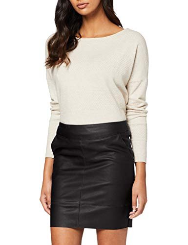 Only Onlbase Faux Leather Skirt Otw Falda, Negro (Black Black), 40 (Talla del Fabricante: 38) para Mujer