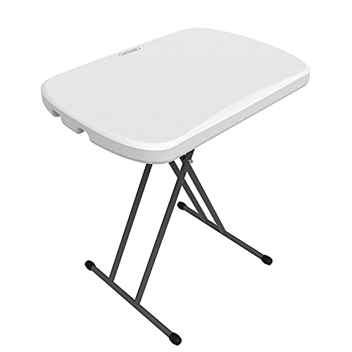 Lifetime 80251 Table Pliante 66 cm-Blanche, Blanc Granite, 65,8 x 45,5 x 71,1 cm