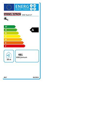Stiebel Eltron vollelektronischer Durchlauferhitzer DHE 27 kW, umschaltbar, druckfest, Touch Display, ECO-Modus, Fernbedienung, gradgenaue Wunschtemperatur, 234460 - 9