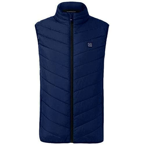 Chaleco eléctrico de los hombres chaqueta calentada USB Casual Body Warmer a prueba de viento Chaleco abrigos