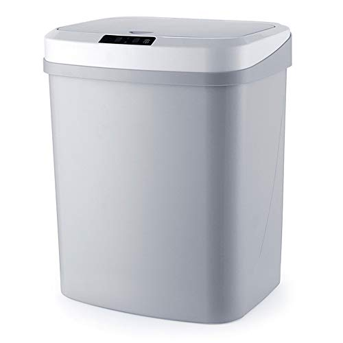 XinC 15L Automatische Touchless intelligente Infrarot-Bewegungs-Sensor-Müll Abfalleimer Küchenpapierkorb Mülltonnen für Home Zimmer, Berührungsfreie Rechteckige Recycler,A